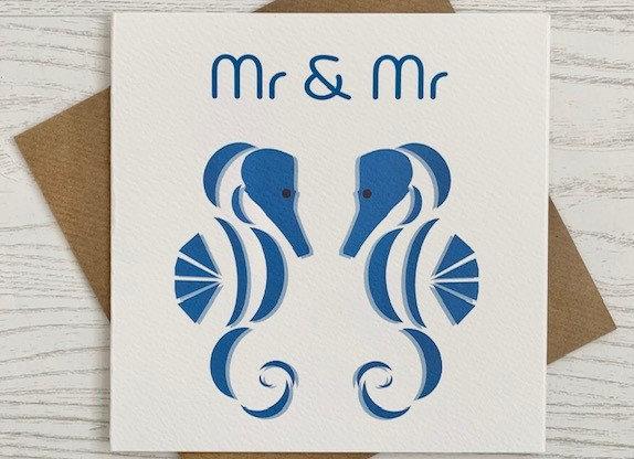 Greeting Card - Mr & Mr Seahorse