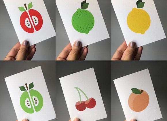 Notecard Set - Fruit Salad (6 cards mixed designs)