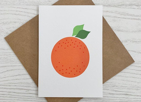 Portrait Notecard - Orange