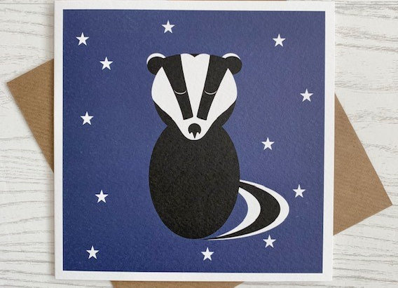 Greeting Card - Badger