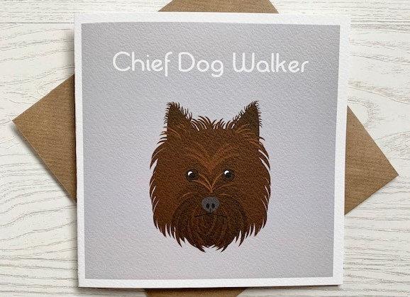 Greeting Card - Chief Dog Walker