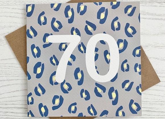 Greeting Card - 70th Birthday Card