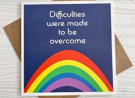 Greeting Card - Difficulties were made to be overcome