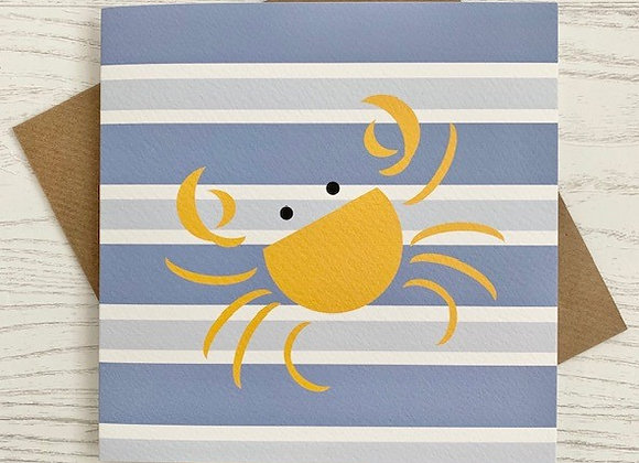 Greeting Card - Blue Stripe Crab