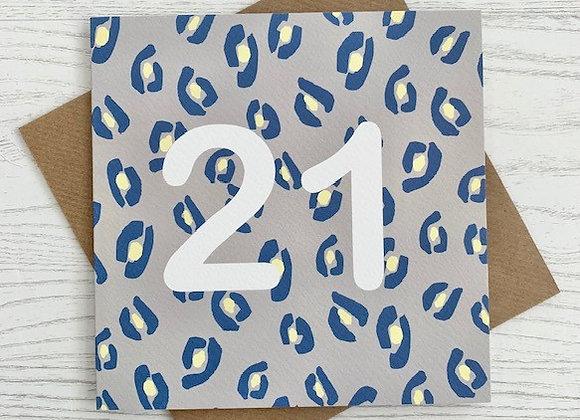 Greeting Card - 21st Birthday Card