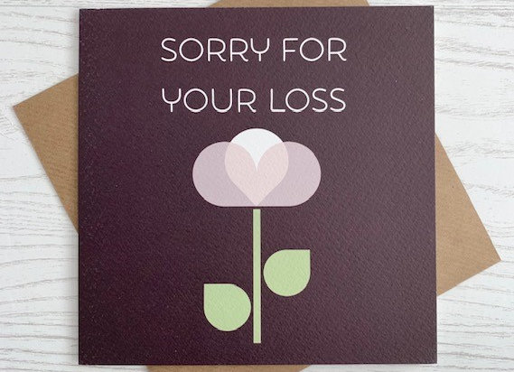 Greeting Card - Sorry For Your Loss