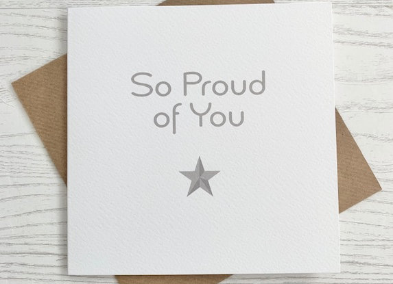 Greeting Card - So Proud of You