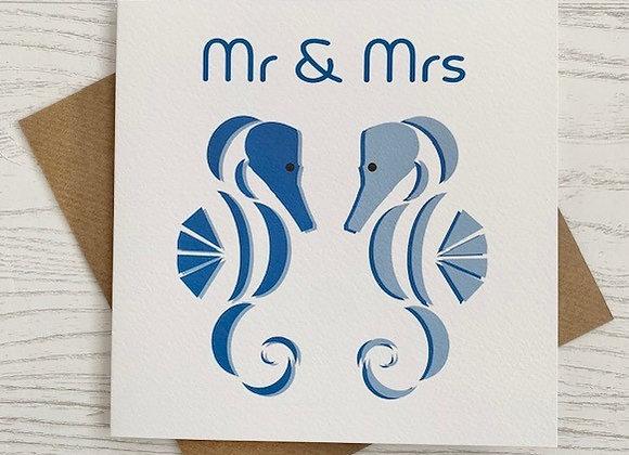 Greeting Card - Mr & Mrs Seahorse