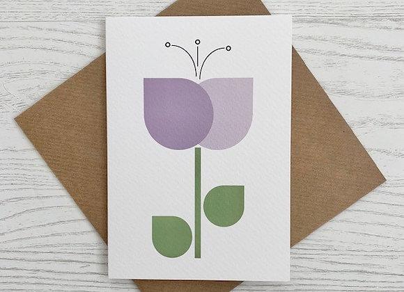 Portrait Notecard - Purple Tulip