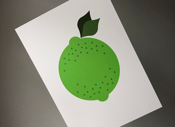 Lime A4 Art Print