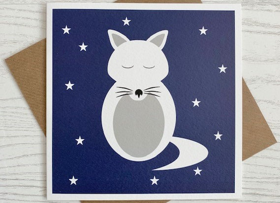 Greeting Card - Arctic Fox