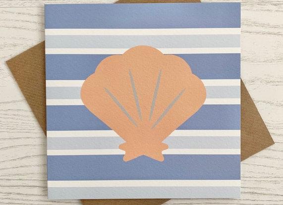 Greeting Card - Blue Stripe Shell