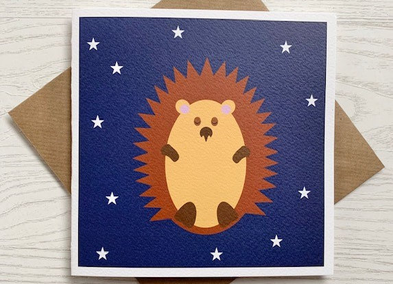 Greeting Card - Sleepy Hedgehog