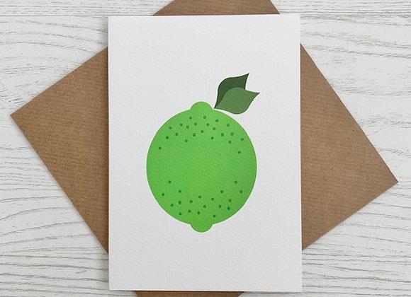Portrait Notecard - Lime