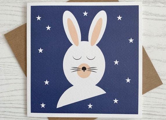 Greeting Card - White Rabbit