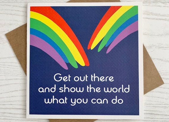 Greeting Card - Get out there