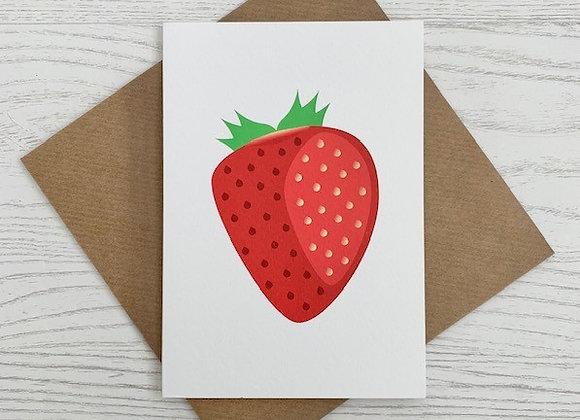 Portrait Notecard - Strawberry
