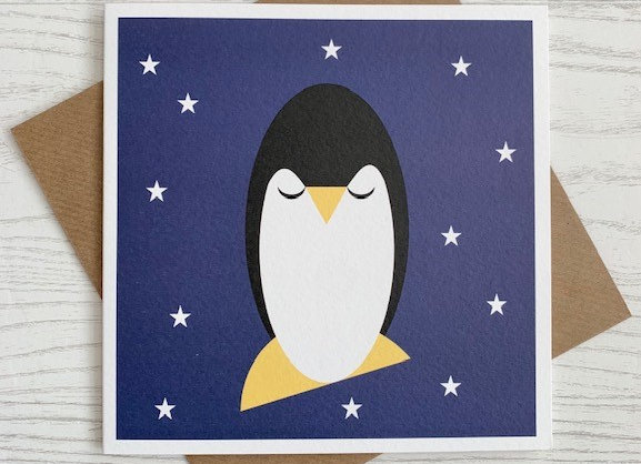 Greeting Card - Penguin