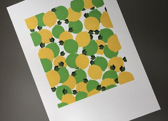 Lemons and Limes A4 Art Print