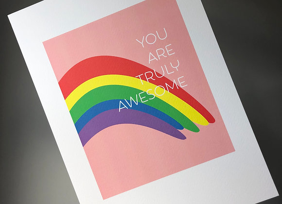 You Are Truly Awesome A4 Art Print