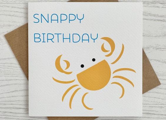 Greeting Card - Snappy Birthday