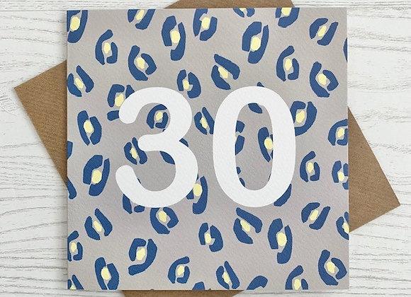 Greeting Card - 30th Birthday Card
