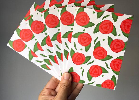 Notecard Set - Roses (6 cards same design)