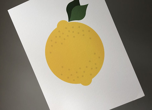 Lemon A4 Art Print