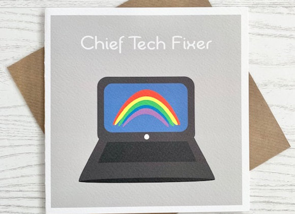 Greeting Card - Chief Tech Fixer