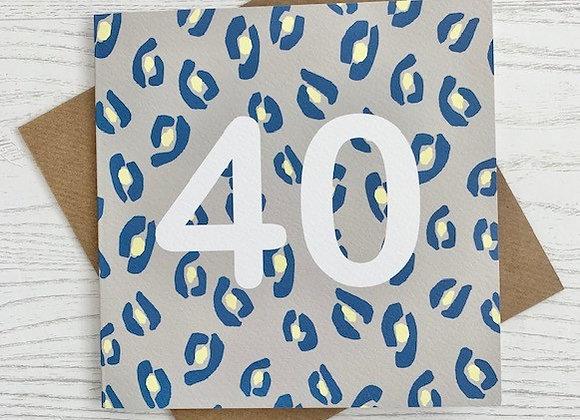 Greeting Card - 40th Birthday Card