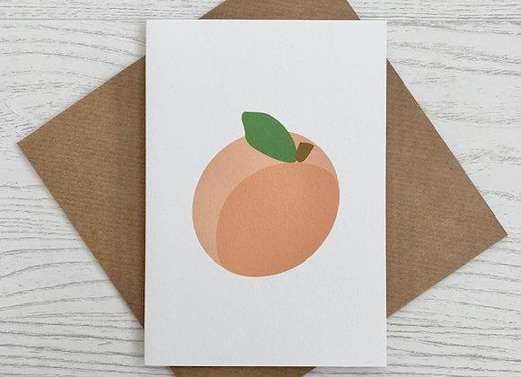 Portrait Notecard - Peach