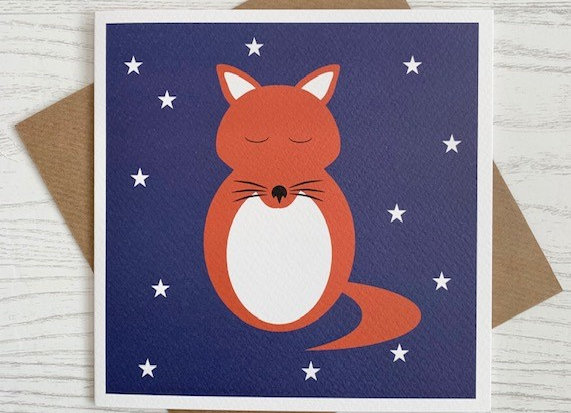 Greeting Card - Red Fox
