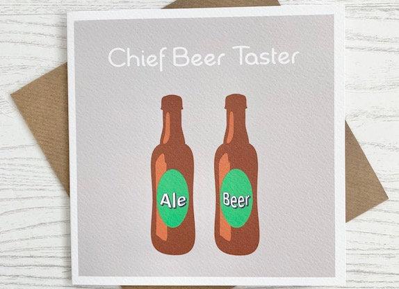 Greeting Card - Chief Beer Taster