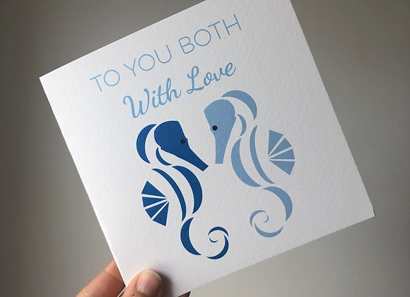 Greeting Card - To You Both With Love