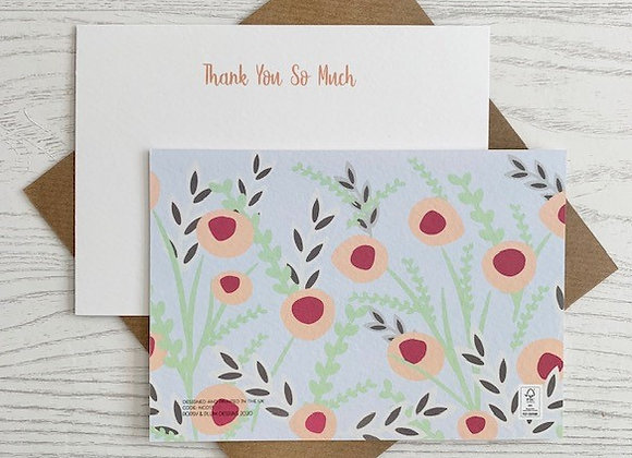 Flat Card Set - 'Thank You So Much' set of 6 same design cards