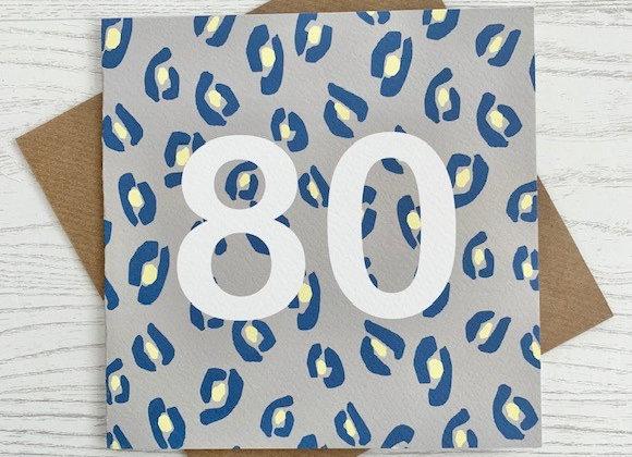Greeting Card - 80th Birthday Card