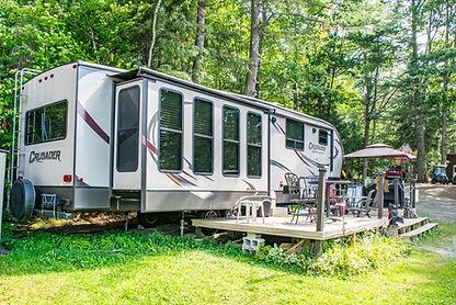 Seasonal Campsites on the lake