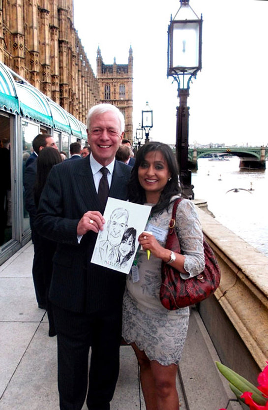 Corporate entertainment in central London with caricatures