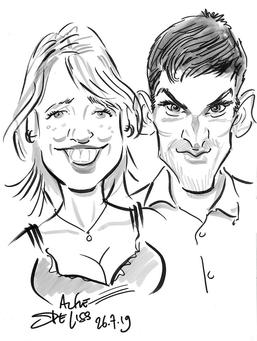 Wedding caricatures & entertainment in north london