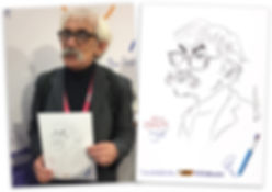 Corporate Caricature at Trade Show