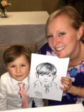 caricature of kid ar wedding