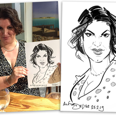 Wedding Caricatures in Whitstable, Kent