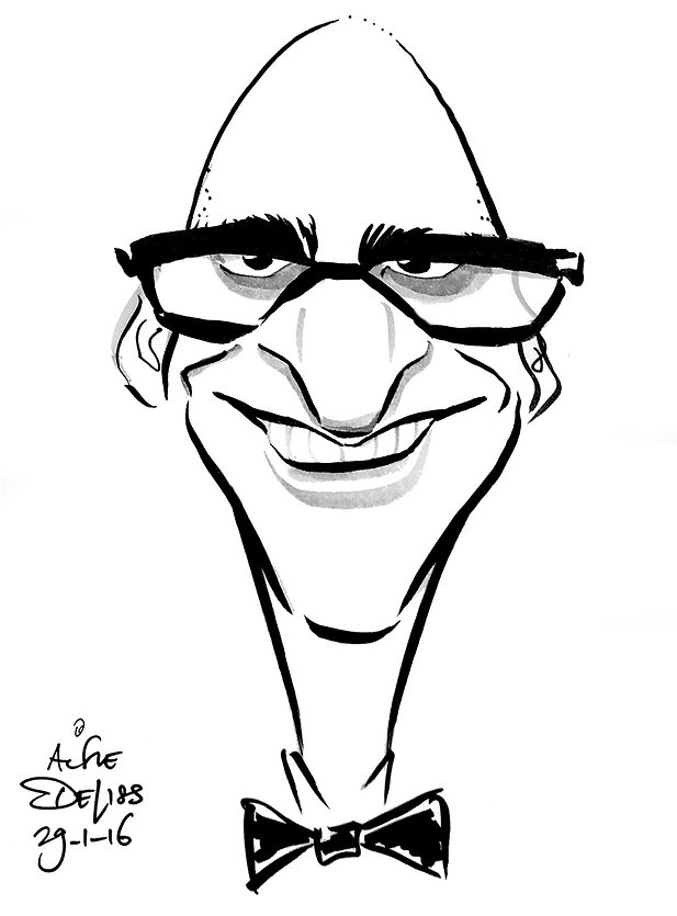 A corporate party guest enjoying caricature entertainment in London