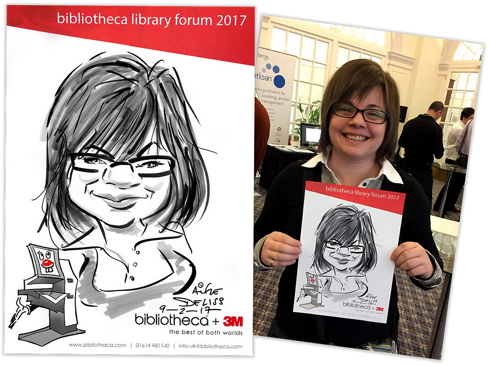 Trade Show Entertainment in London by Caricaturist