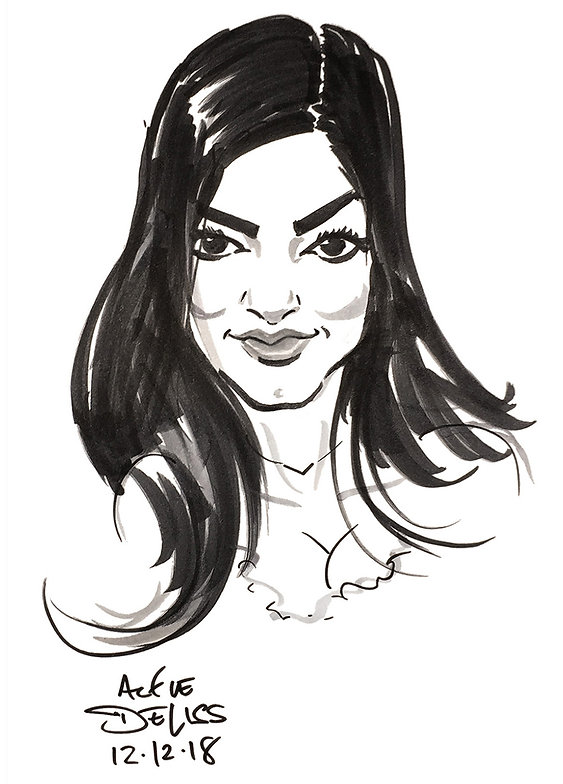 Caricature of NYE/Xmas Corporate Staff Party Guest