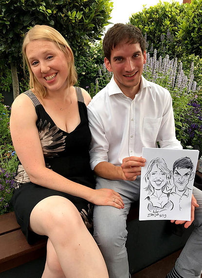 caricatures & entertainment at a north london wedding