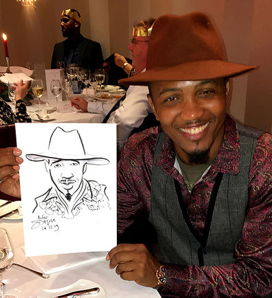 Xmas dinner party corporate caricatures & entertainment in London