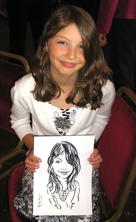 Small party entertainment by London caricaturist