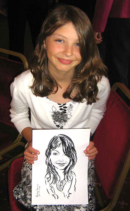 Wedding party entertainment by London caricaturist