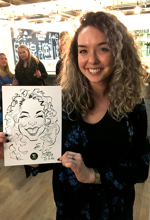 corporate entertainment party guest with caricature